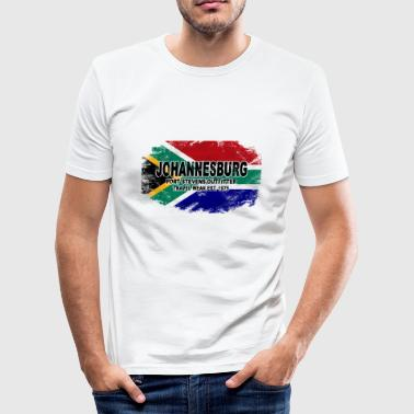 Johannesburg - South Africa - Vintage Flag - Männer Slim Fit T-Shirt