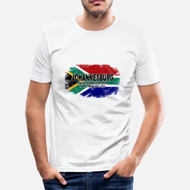 Johannesburg Johannesburg - South Africa - Vintage Flag - Männer Slim Fit T-Shirt
