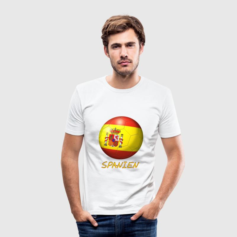 Fussball Spanien Flagge 1 - Slim Fit T-shirt herr