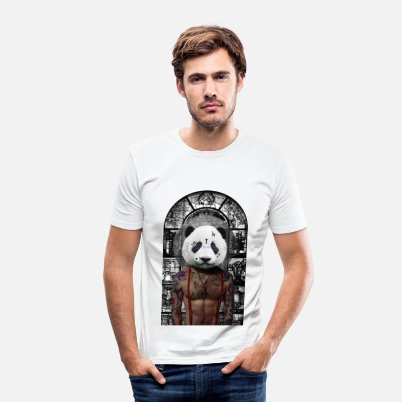 Bestsellers Q4 2018 T-shirts - Panda I am another - T-shirt moulant Homme blanc