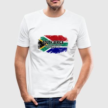 South Africa - Vintage Flag - Männer Slim Fit T-Shirt