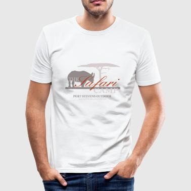 Tansania rhino - Safari Camp - Männer Slim Fit T-Shirt