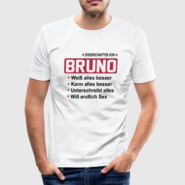 bruno - Männer Slim Fit T-Shirt