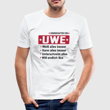 uwe - Männer Slim Fit T-Shirt