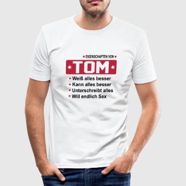 tom - Männer Slim Fit T-Shirt