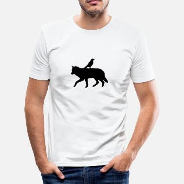 Van Amsterdam Raven on a wolve - Männer Slim Fit T-Shirt