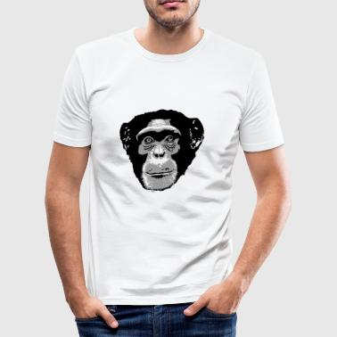 Schimpanse - Chimpanzee - Monkey - Männer Slim Fit T-Shirt