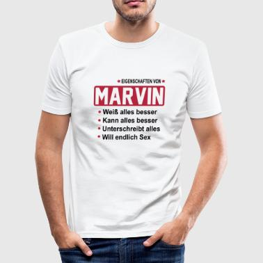marvin - Männer Slim Fit T-Shirt