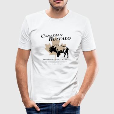 Canadian Buffalo - Männer Slim Fit T-Shirt