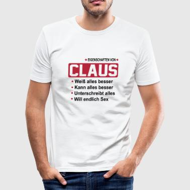 claus - Männer Slim Fit T-Shirt