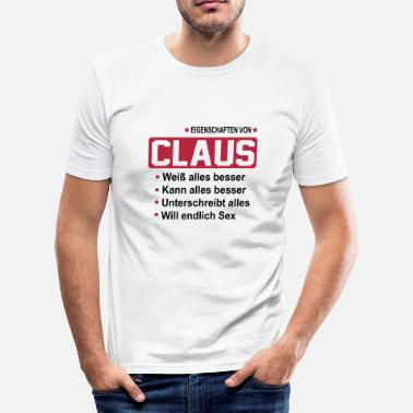 Claus claus - Männer Slim Fit T-Shirt