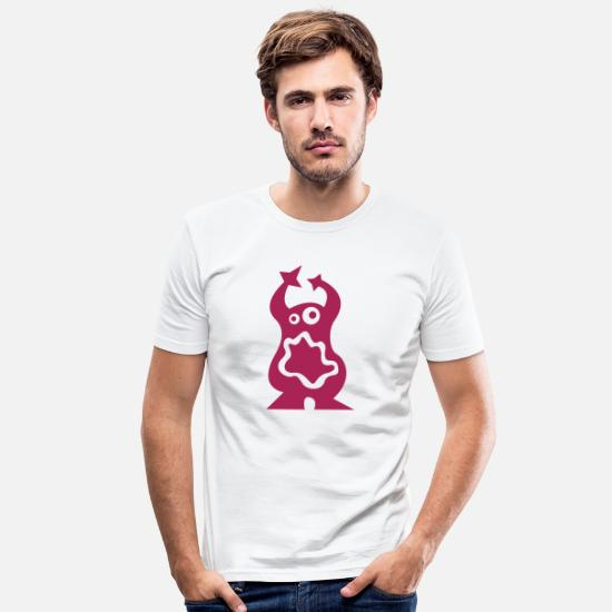 Baby T-Shirts - Monster - Men's Slim Fit T-Shirt white