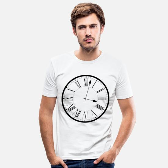 Birthday T-Shirts - Clock / Clock - Men's Slim Fit T-Shirt white