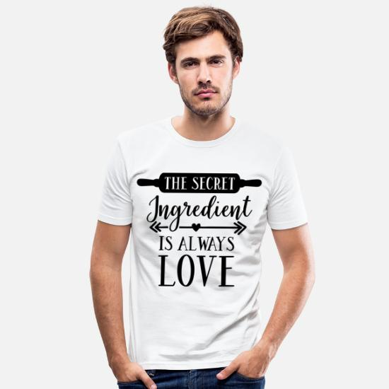 Birthday T-Shirts - The Secret Ingredient Is Gift - Men's Slim Fit T-Shirt white