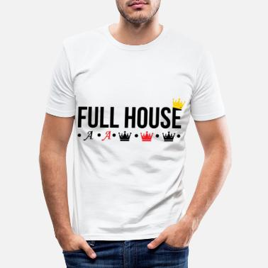Full House Full house poker - Mannen slim fit T-shirt