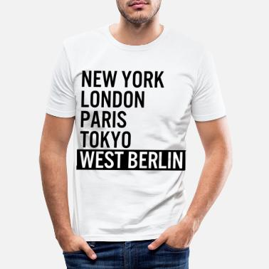 West Berlin New York, London, Paris, Tokyo, West Berlin - Men's Slim Fit T-Shirt