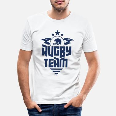 Rugbyball Rugbyball - Männer Slim Fit T-Shirt
