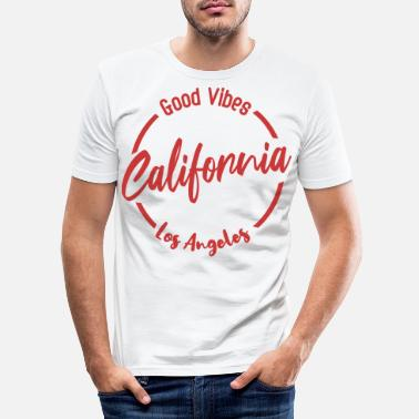 Longboard California Good Vibes - Männer Slim Fit T-Shirt