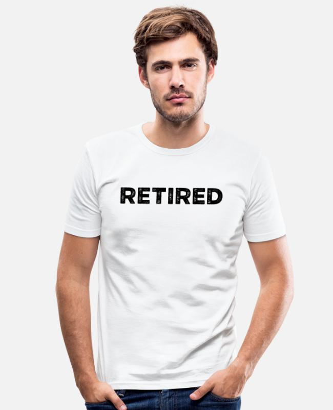 Pension T-Shirts - Pension Rente Ruhestand Rentner Pensionierung - Männer Slim Fit T-Shirt Weiß