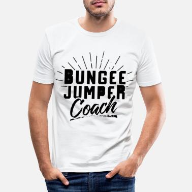 Jumping Bungee Jump Trainer Bungee Jump Jumping - Slim fit T-skjorte for menn