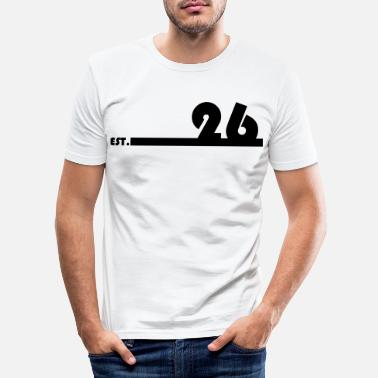 26_Black - Männer Slim Fit T-Shirt