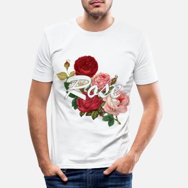 Rose Rose roses - Men's Slim Fit T-Shirt