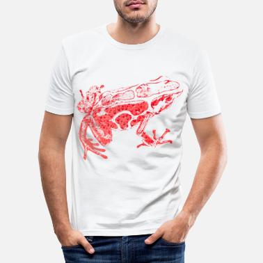 Frog Frog, red - Men's Slim Fit T-Shirt