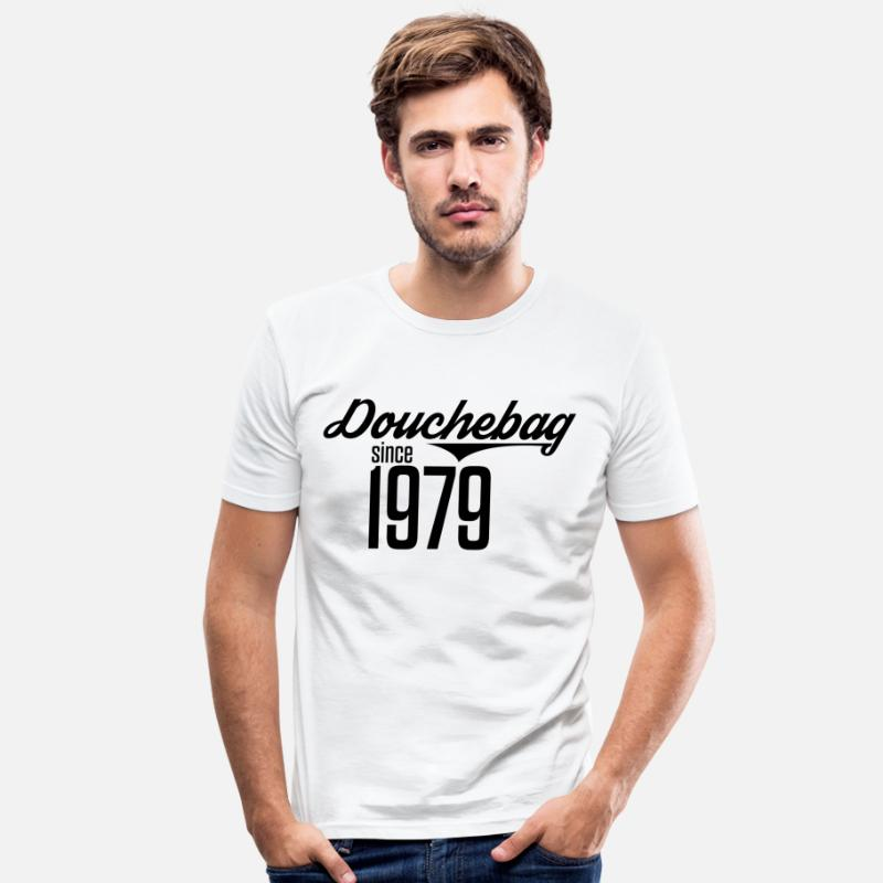 Birthday T-Shirts - 1979 Birthday Present Year of Birth 79 - Men's Slim Fit T-Shirt white