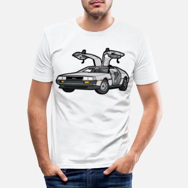 Classic DeLorean vintage classic car classic car - Men's Slim Fit T-Shirt