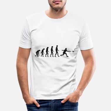 Christmas Present Shuttlecock Evolution Badminton Evolution Gift - Men's Slim Fit T-Shirt