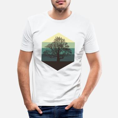 Bomen boom - Mannen slim fit T-shirt