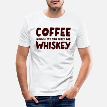 Wiskey Morsom Kaffe Wiskey Morgen Koffein Alkohol Gave - Slim fit T-skjorte for menn