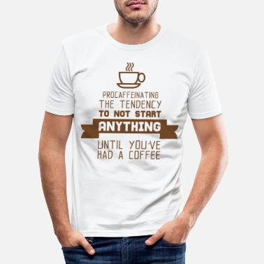 Coffee Drinkers COFFEE DRINKER - Men's Slim Fit T-Shirt