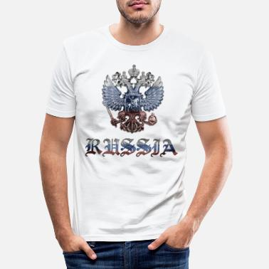 Russia RUSSIA FLAG RUSSIA GRAFFITI EAGLE - Men's Slim Fit T-Shirt