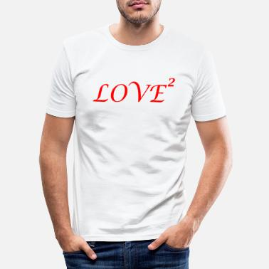 LOVE love Loved love romantic i love - Men's Slim Fit T-Shirt