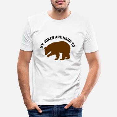 Jokes Bear Strong Jokes Bar - Men's Slim Fit T-Shirt