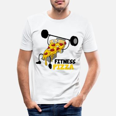 Hebend Fitness-Pizza - Männer Slim Fit T-Shirt