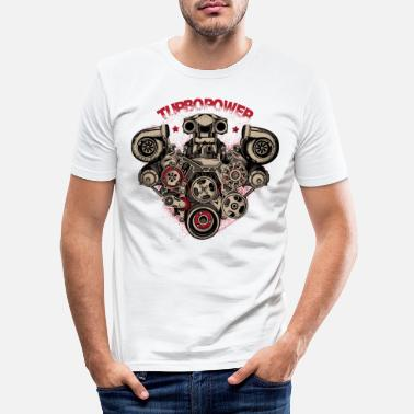 Sportwagen turbo macht - Mannen slim fit T-shirt