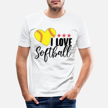 Helmet Softball player | Softballer Team Coach Gifts - Men's Slim Fit T-Shirt