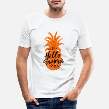 Pineapple Summer Fruity Hello Summer Shirt - Mannen slim fit T-shirt