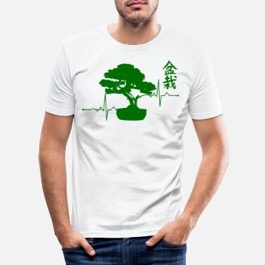 Bonsai Bonsai Shirt Bonsai Baum EKG T-Shirt Geschenk - Männer Slim Fit T-Shirt