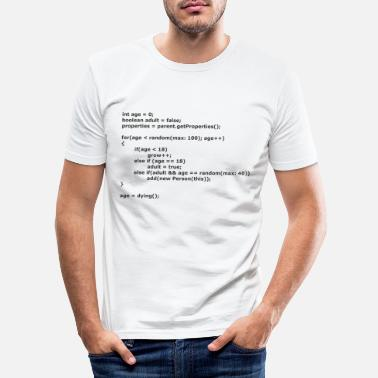 Code Life in Java Code - Männer Slim Fit T-Shirt