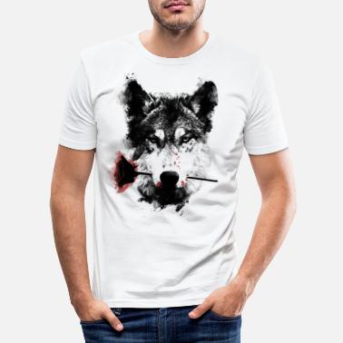 Wolf Wolf Lover - Men's Slim Fit T-Shirt