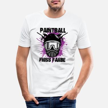 Farbe Paintball - Friss Farbe - Männer Slim Fit T-Shirt