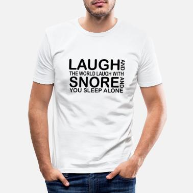 Funny Quotes laugh funny quotes - Slim fit T-skjorte for menn