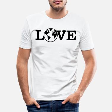 Eco Love earth - mother earth - planet - love - nature - Men's Slim Fit T-Shirt