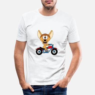 Animal Hyène - moto - motard - loisir - animal - plaisir - T-shirt moulant Homme