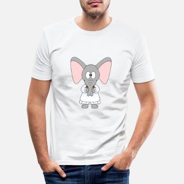 Hen Night Rolig elefant - elefant - brud - bröllop - T-shirt slim fit herr