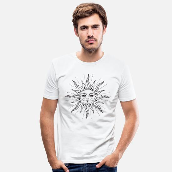 Retro T-Shirts - Here Comes The Sun. - Men's Slim Fit T-Shirt white