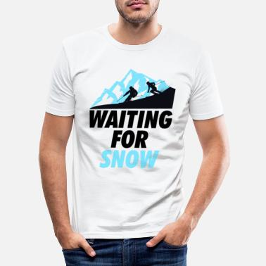 Waiting Ski Skivakantie Waiting Black - Mannen slim fit T-shirt